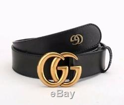 100% Authentic GUCCI Calfskin Double G Belt 95 to 125 with box