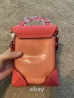 100% Authentic MCM Red Case Box Bag Crossbody Bag