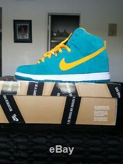 100% Authentic NIKE DUNK HIGH SB SZ 11 TROPICAL TEAL new with box