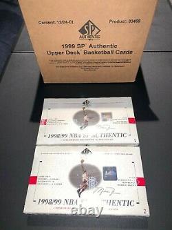 1998-99 UD SP Authentic Box NBA Basketball (FACTORY CASE FRESH) Carter, Nowitzki