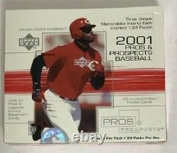 2001 Upper Deck Pros and Prospects Baseball Hobby Box Factory Sealed