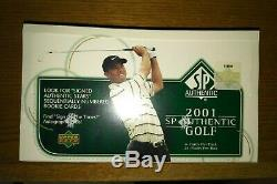 2001 Upper Deck SP Authentic Golf Hobby box. Factory Sealed