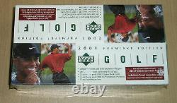 2001 Upper Deck sealed GOLF RACK pack box SP Authentic Preview packs Tiger Woods