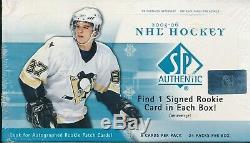 2005-06 SP Authentic Hockey Hobby Box 24 Packs 5 Cards Each Sidney Crosby