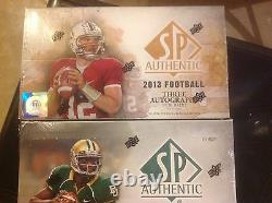 2012 and 2013 UPPER DECK S. P. AUTHENTIC F. B HOBBY BOXES LOT