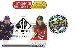 2019-20 Upper Deck UD SP AUTHENTIC NHL Hobby Hockey Factory Sealed Box PRE SELL