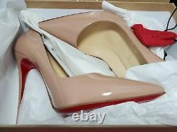 AUTHENTIC Christian Louboutin SO KATE 120 Patent Nude 39 BRAND NEW OPEN BOX