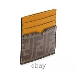 AUTHENTIC Fendi Mens Card Case FF Vetrificado NEW WITH TAGS AND BOX