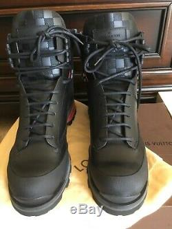 AUTHENTIC LOUIS VUITTON BLACK ANKLE BOOTS NEW WITH BOX SIZE 9 Very RARE
