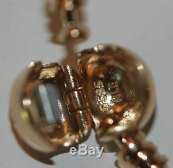 AUTHENTIC NEW PANDORA 550713 14K GOLD BANGLE BRACELET GIFT BOX 21cm LG last one