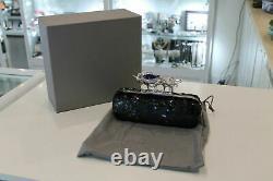Alexander McQueen Black Salamander Knuckle Sequined Box Clutch-New & Authentic