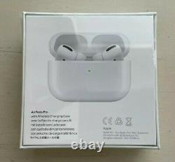 Authentic Apple AirPods Pro New in Box Sealed White Wireless Charging Case