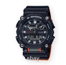 Authentic Casio G-Shock Ana-Digi Orange Black Nylon Strap Watch GA900C-1A4