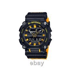 Authentic Casio G-Shock Analog-Digital Yellow Resin Strap Watch GA900A-1A9