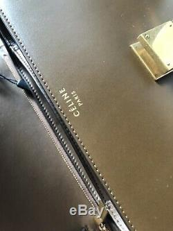 Authentic Celine Classic Box Bag Medium Calfskin Old Logo RARE Caramel with tags