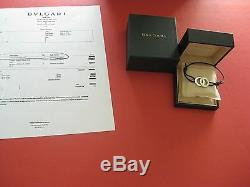 Authentic Designer New Bulgari Fortuna Sterling Silver Bracelet with Box + Receipt