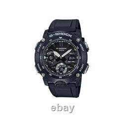 Authentic G-Shock Analog-Digital Carbon Core Guard Black Resin Watch GA2000S-1A