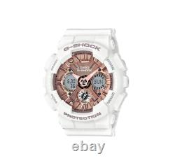 Authentic G-Shock White & Rose Gold S Series Shock Resist Watch GMAS120MF-7A2