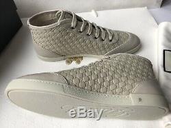 Authentic GUCCI GUCCISSIMA Women's Leather Sneakers mystic white EU 39 NEW BOX