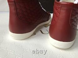 Authentic GUCCI GUCCISSIMA Women's Leather Sneakers red EU 39 US 9 NEW BOX