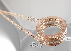 Authentic HEARTS OF PANDORA Necklace ROSE GOLD Plated 580514CZ NEW w BOX