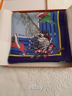 Authentic HERMES Pani La Shar Pawnee Silk WASH Scarf with Box 90 cm
