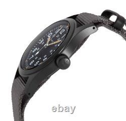 Authentic Hamilton Khaki Field Mechnical Nato Gray Black Men's Watch H69409930