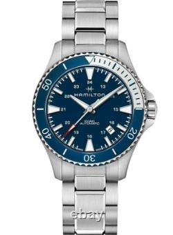 Authentic Hamilton Khaki Navy Scuba Auto Stainless Steel Men's Watch H82345141