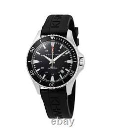 Authentic Hamilton Khaki Navy Scuba Automatic Black Strap Men's Watch H82335331