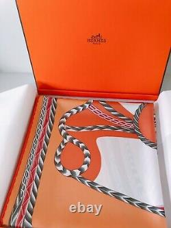 Authentic Hermes silk scarf 90cm x 90cm Never Used With Box
