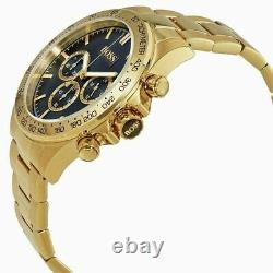 Authentic Hugo Boss Men's Gold Ikon Chronograph Watch HB1513340 NEW