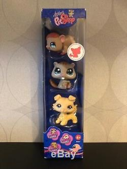 Authentic Littlest Pet Shop NEW IN BOX #1192 1193 1194 Blond collie dog NIB NIP