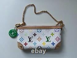 Authentic Louis Vuitton 2012 Pochette Milla MM Leather Crossbody bag in box