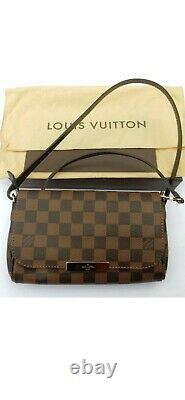 Authentic Louis Vuitton Favorite PM Damier Ebene Bag, Dust Bag, Box, Receipt