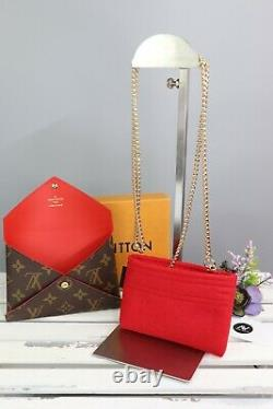 Authentic Louis Vuitton KIRIGAMI POCHETTE Medium with Gold Strap Crossbody