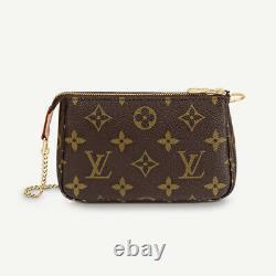 Authentic Louis Vuitton Mini Pouchette Accessories Monogram BRAND NEW With Box