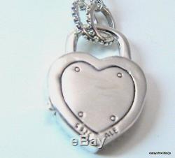 Authentic Pandora Silver Necklace Lock Your Promise #396583fpc-60 Hinge Box