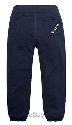Authentic Supreme Corner Label Sweatpant Navy Size XLarge XL NWT Ready To Ship