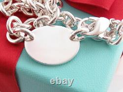 Authentic Tiffany & Co Silver 925 Oval Please Return To Bracelet 8 Box