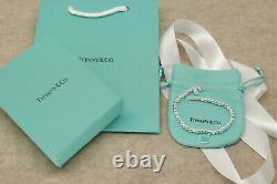 Authentic Tiffany & Co Silver 925 \Please Return To Bracelet 7.5 Box