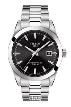 Authentic Tissot Powermatic 80 Silicum Black Dial Men's Watch T1274071105100
