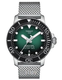 Authentic Tissot Seastar 1000 Powermatic80 Green Dial Men's Watch T1204071109100