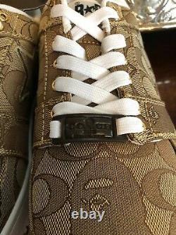 BAPE x COACH Bape Sta Shoes Beige Camo Men's 9.5 AUTHENTIC In Box W Tags