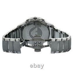 Brand New Authentic Emporio Armani Ar1452 Black Dial Ceramic Mens Watch Uk Stock