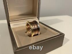 Bvlgari B Zero Ring Size 55 Authentic 18k Gold New With Box