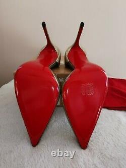 Christian Louboutin Authentic Iriza Platine Size 41, UK8, New In Box