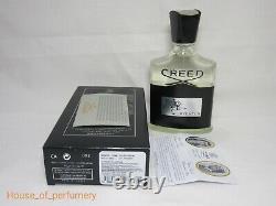 Creed Aventus Eau De Parfum Spray 100ml. 3.4 fl. Oz. Men's New With Box Authentic