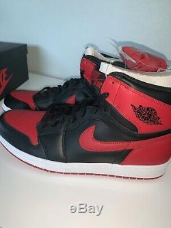 DS Nike Air Jordan Retro 1 Bred 2013 High OG Size 13 New With Box Authentic
