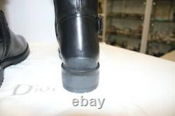 Dior Black Leather Over-The-Knee Boots-Size 39,5-New W Box & Authentic