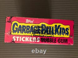GARBAGE PAIL KIDS 1985 series 1 Box BBCE wrapped authenticated w POSTER GPK 1st